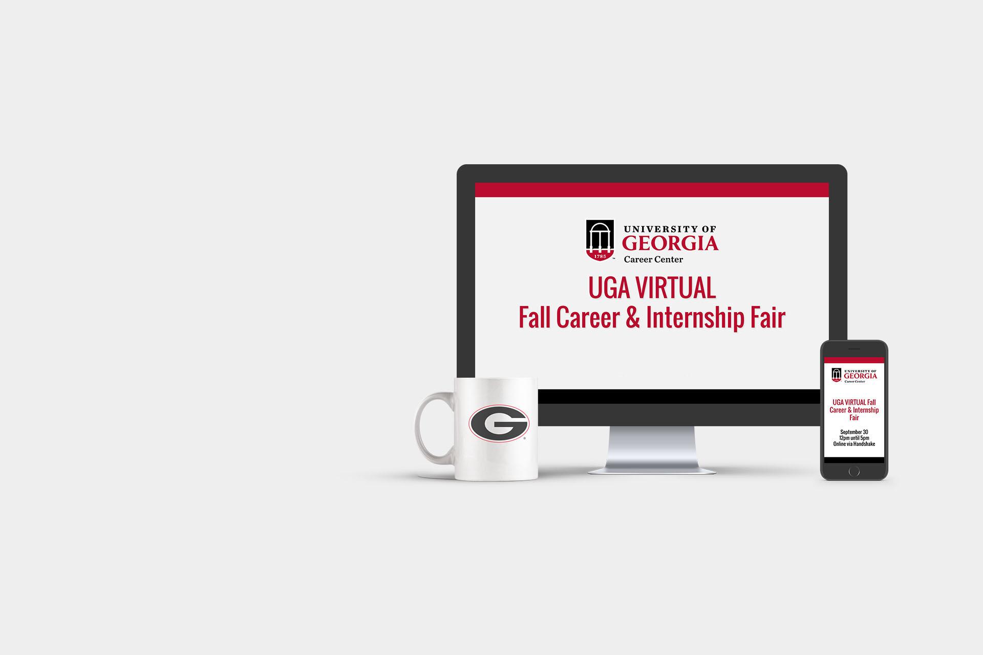 UGA VIRTUAL Fall Career & Internship Fair - October 13 from 12pm until 5pm online via Handshake