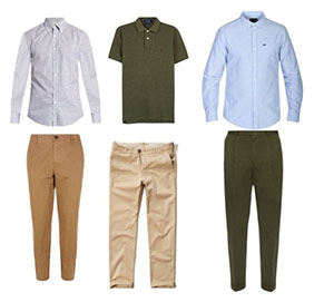 Business casual male clothing