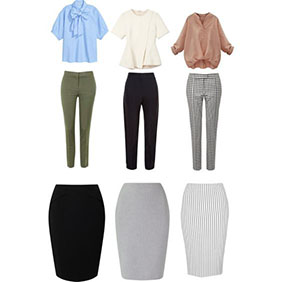 Business casual female clothing