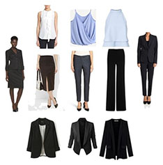 Business professional female clothing