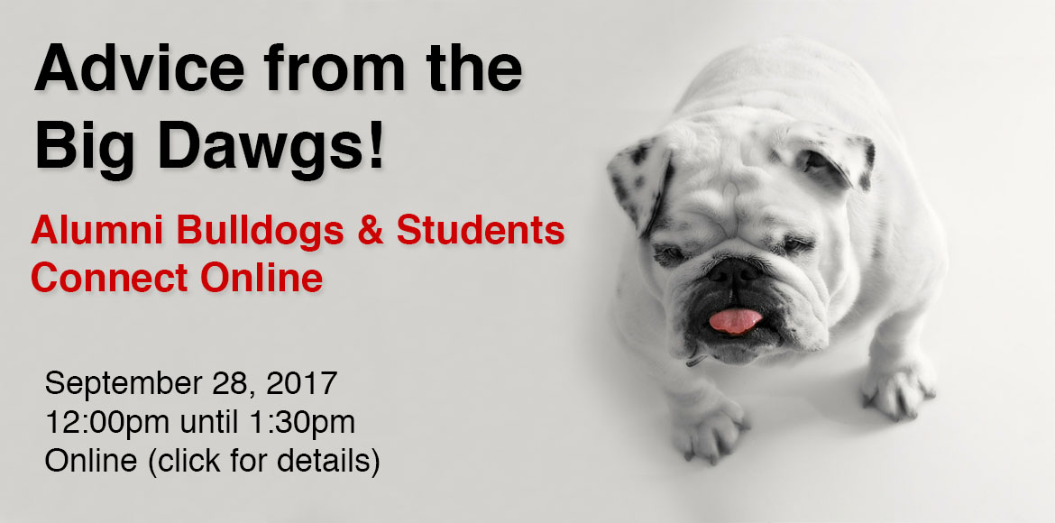 UGA VIRTUAL NETWORKING HOUR - ADVICE FROM THE BIG DAWGS